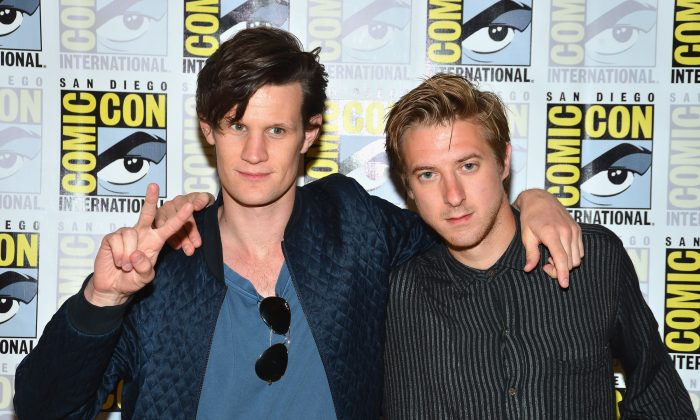 Actors Matt Smith and Arthur Darvill attend 'Dr. Who' Press Line during Comic-Con International 2012 at Hilton San Diego Bayfront Hotel on July 15, 2012 in San Diego, California. (Photo by Frazer Harrison/Getty Images)Actors Matt Smith and Arthur Darvill attend 'Dr. Who' Press Line during Comic-Con International 2012 at Hilton San Diego Bayfront Hotel on July 15, 2012 in San Diego, California. (Photo by Frazer Harrison/Getty Images)