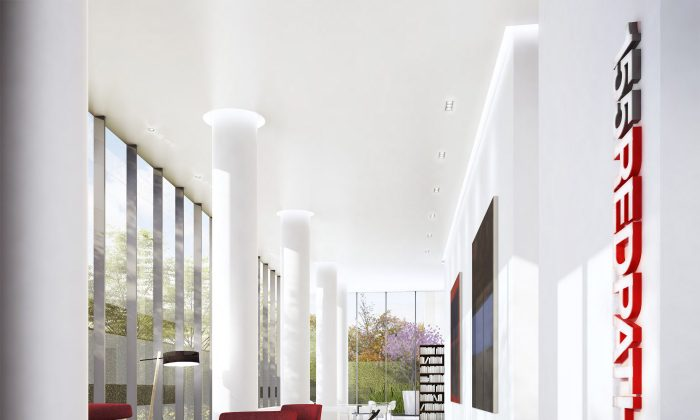 Rendering of the lobby at 155 Redpath. (Freed Developments)