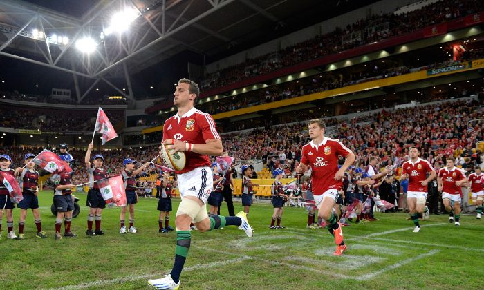 Sam Warburton led the Lions on to Suncorp Stadium to play the Reds two weeks ago ... this Saturday they return to play the Wallabies. (Bradley Kanaris/Getty Images)