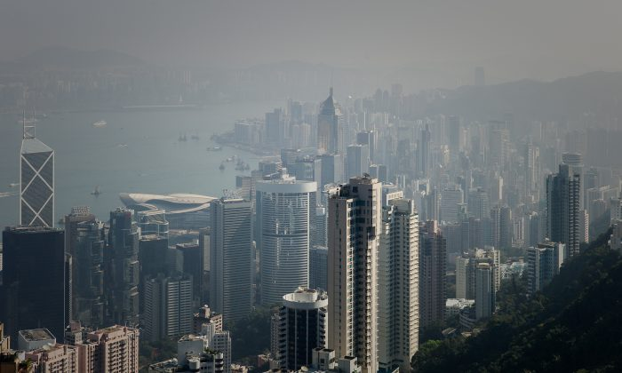 The Hong Kong Skyline as shown on Feb. 1, 2013. (Philippe Lopez/AFP/Getty Images)