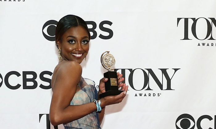 """""""Pippin"""" star Patina Miller, in a Zac Posen gown, poses in The 67th Annual Tony Awards at Radio City Music Hall in New York City on June 9, 2013. (Neilson Barnard/Getty Images)"""