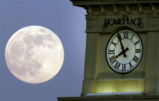 The Home Place clock tower in Prattville, Ala., on June 22, 2013.  (AP Photo/Dave Martin)