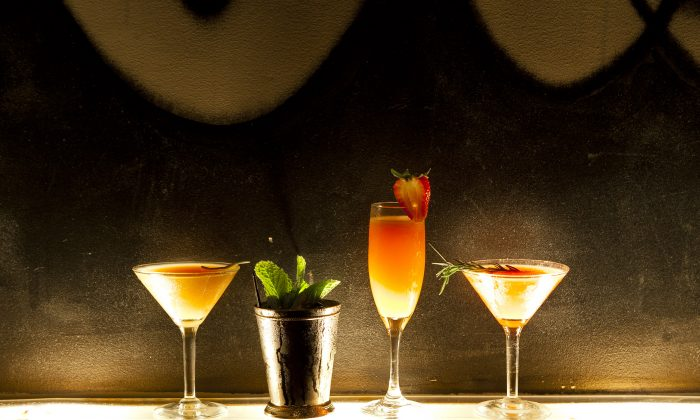 A selection of summer cocktails by mixologist Carlos De Vazquez. (Samira Bouaou/The Epoch Times)