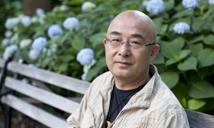 "Chinese dissident writer, Liao Yiwu was in New York City to celebrate the U.S. publication of his memoir about his years in prison, ""For A Song and A Hundred Songs."" It was released on June 4. (Samira Bouaou/Epoch Times)"