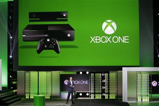 Microsoft corporate vice president Phil Harrison speaks at the Microsoft Xbox E3 media briefing in Los Angeles, Monday, June 10, 2013. (AP Photo/Jae C. Hong)