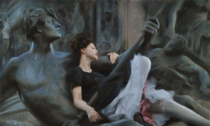 "First Place, Figurative Category winner Nick Alm, ""Two Lovers,"" oil on canvas, 29 1/2  x 39 1/2 in. (Courtesy of the artist)"