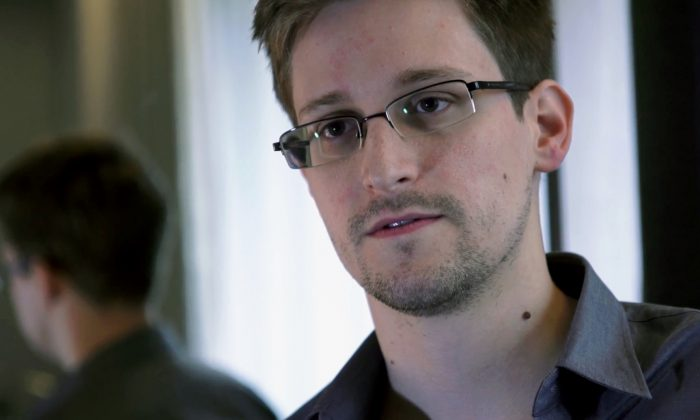 Edward Snowden, who worked as a contract employee at the National Security Agency, in Hong Kong, Sunday, June 9, 2013. (AP Photo/The Guardian)