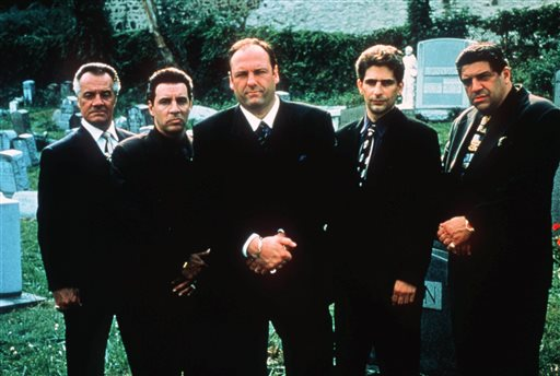 "The Sopranos won't be coming back as a remake, but a viral story published on a satirical website is confusing many. This undated publicity image released by HBO shows, from left, Tony Sirico, Steven Van Zandt, James Gandolfini, Michael Imperioli and Vicint Pastore,from the HBO drama series ""The Sopranos.""  HBO and the managers for Gandolfini say the actor died Wednesday, June 19, 2013, in Italy. He was 51. (AP Photo/HBO, Anthony Neste, file)"