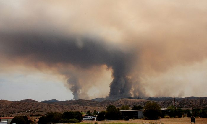 The Silver Fire on June 12, 2013, in the Gila National Forest of New Mexico. (Eric LaPrice, Silver Fire Information Officer, US Forest Service Gila National Forest)