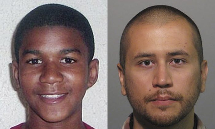 This combo made from file photos shows Trayvon Martin, left, and George Zimmerman. George Zimmerman, 28, the neighborhood watch volunteer who shot 17-year-old Trayvon Martin, was arrested and charged with second-degree murder. (AP Photo, File)