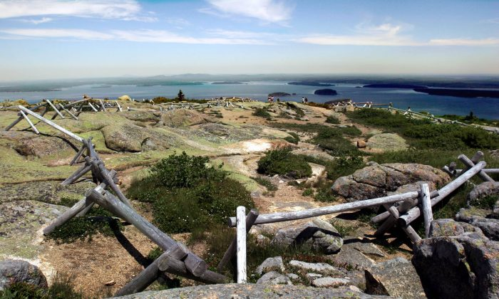 A file photo of the view from the top of Cadillac Mountain in Acadia National Park on June 20, 2005.(AP Photo/Pat Wellenbach/file)