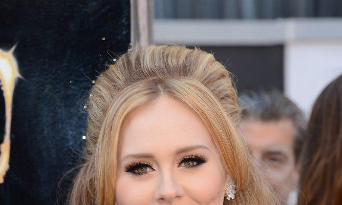 Singer Adele arrives at the Oscars at Hollywood & Highland Center in Hollywood, Calif., on Feb. 24, 2013. (Jason Merritt/Getty Images)