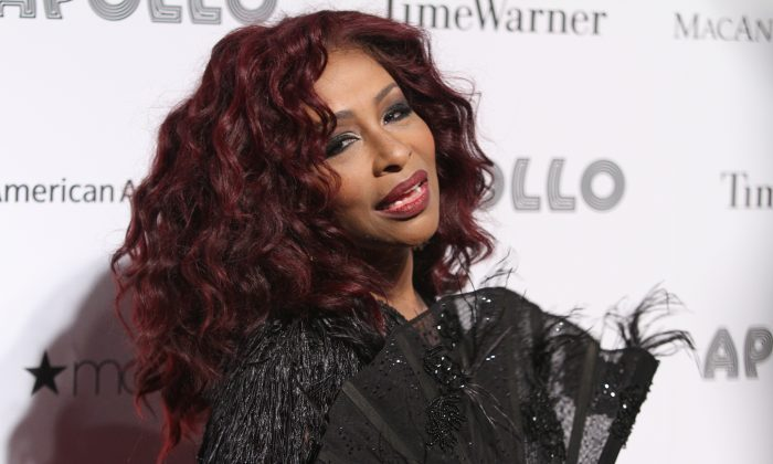 Chaka Khan at the 2013 Apollo Spring Gala, on June 10, 2013 in New York. Khan was inducted into the Apollo Legends Hall of Fame and honored for her 40 years as a singer. (Donald Traill/Invision/AP)