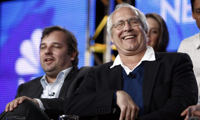 Actor Chevy Chase in an Aug. 5, 2009 file photo taken in Pasadena, Calif.(AP Photo/Matt Sayles, file)