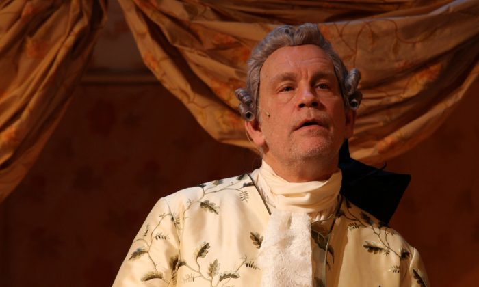 "John Malkovich plays the aging Casanova in ""The Giacomo Variations."" (Nathalie Bauer)"