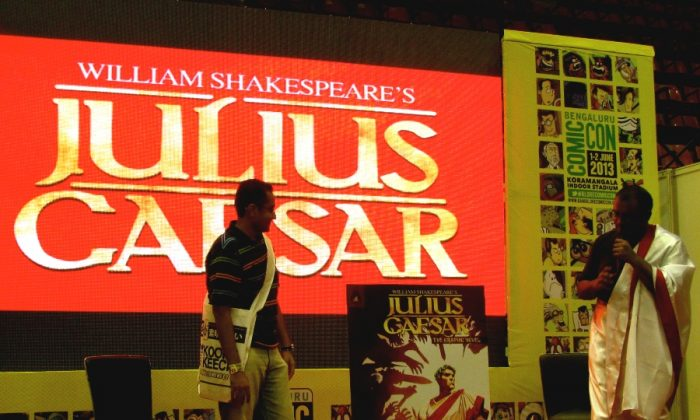 The release of Shakespeare's Julius Caesar by Campfire Graphic Novels during the first Bangalore Comic Con, at the Koramangala indoor stadium from June 1–2. Extensive research was done to set an appropriate graphical-atmosphere for this famous classic tragedy, using actual locations in Rome. (Daksha Devnani/Epoch Times)