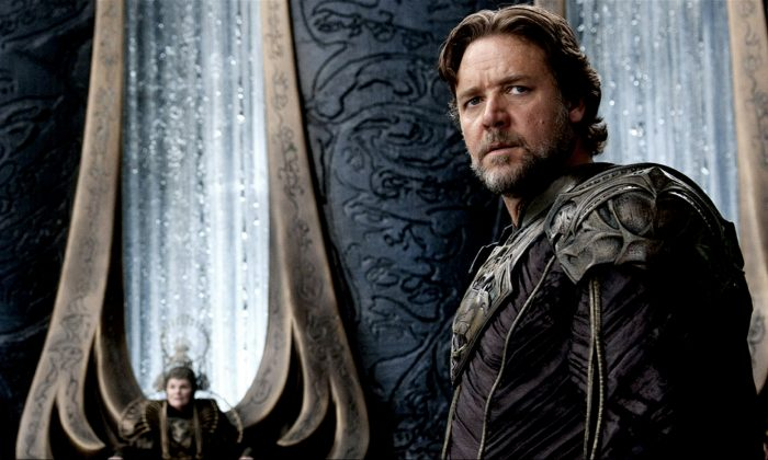 "Russell Crowe when he appeared in ""Man of Steel."" (Clay Enos/Warner Bros. Pictures)"