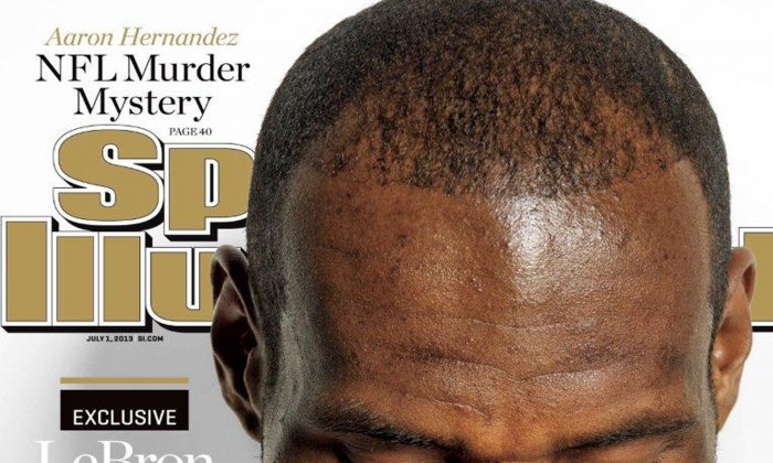 This image provided by Sports Illustrated shows the cover of the July 1, 2013 edition, featuring Lebron James. (AP Photo/Sports Illustrated)
