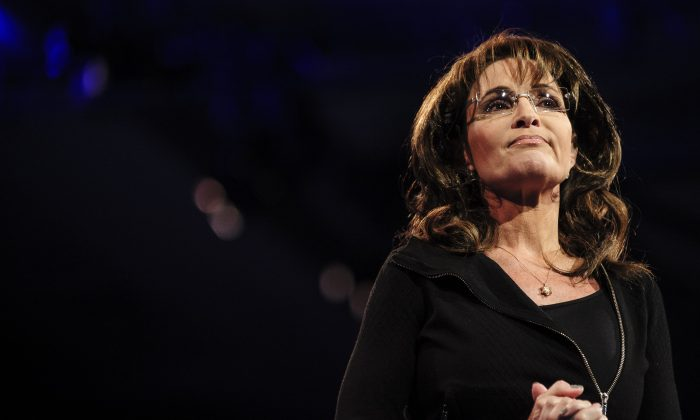 "An article that claims ex-Alaska Gov. Sarah Palin said she's happy that ""Mr. Ferguson"" was not indicted is satire. A file photo of Sarah Palin, former Governor of Alaska, speaking at the 2013 Conservative Political Action Conference (CPAC)in National Harbor, Maryland on March 16, 2013. Palin spoke at the Faith and Freedom Coalition conference on June 15, 2013. (Pete Marovich/Getty Images)"