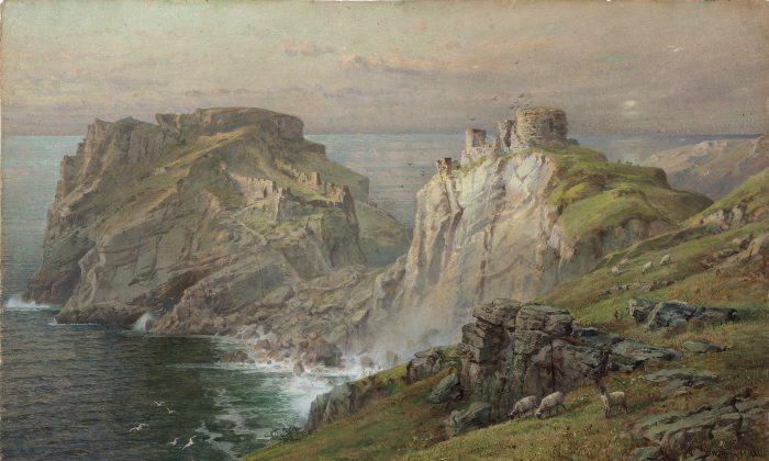 """""""Tintagel,"""" 1881, watercolor on paper mounted down to board by William Trost Richards (Image courtesy of National Academy Museum)"""