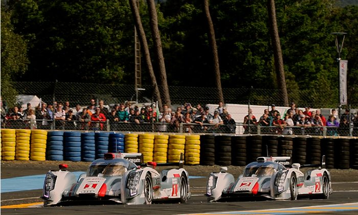 Audi's R18 e-tron quattro hybrids finished 1–2 in the 80th Le Mans 24 Hours race. (Audi Motorsport)