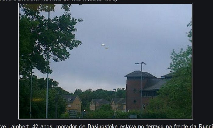 A screenshot of the Ufosfacts.blogspot.in website shows the purported UFO.
