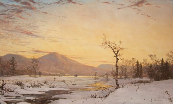 """Winter in Jackson,"" oil on canvas, Hudson River School. (Courtesy of Erik Koeppel)"
