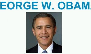 'George W. Obama' Photo Shared After NSA Security Monitoring