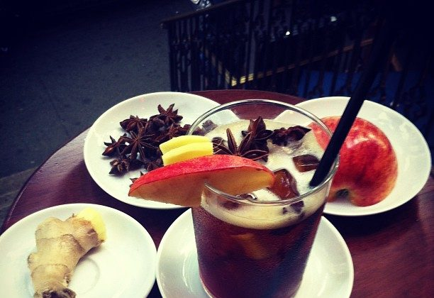 Ethiopian iced coffee made with ginger, star anise, and apple at I am Coffee. (Courtesy of I am Coffee)