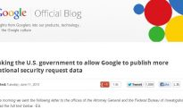 Google Asks US Gov. to Allow Google to Publish Surveillance Data