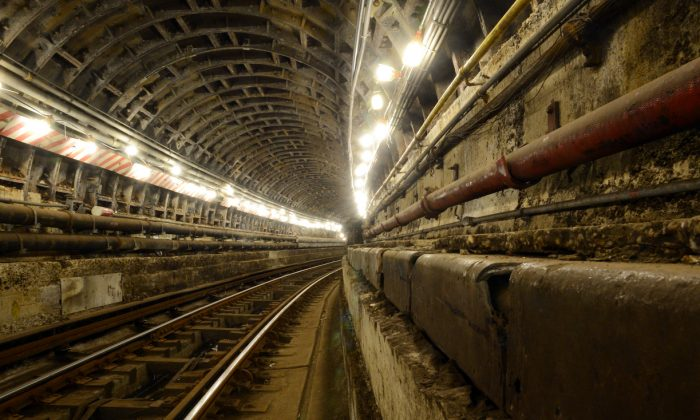 The Montague Tube, a nearly mile-long pair of tunnels that carry the R train under the East River between Brooklyn and Manhattan, will be undergoing extensive post-Sandy reparation for 14 months, leading to the closure of the R train. (Courtesy of MTA).