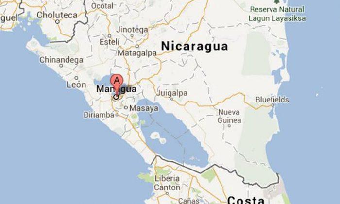 Managua, Nicaragua's capital. A 6.5 magnitude earthquake hit off the Nicaraguan coast about 50 miles from the capital on Saturday. (Screenshot/Google Maps)