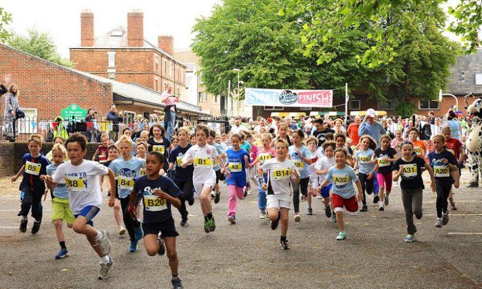 Children participate in the Run Jericho one-mile run in Oxford, England, June 16. (Courtesy of Matthew Hood)