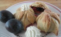 Plums Wrapped in French Pastry