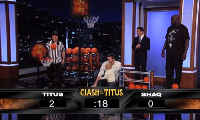 A screenshot of Jimmy Kimmel's YouTube shows the competition.