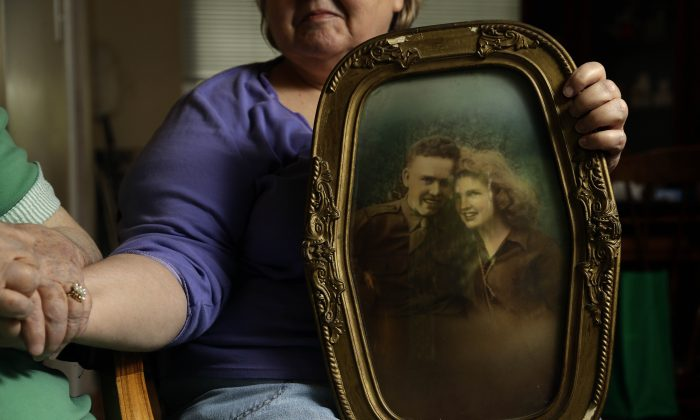 Portrait of Kenneth F. Reese, a soldier who is still Missing In Action from the Korean War. (AP Photo/Gerry Broome)