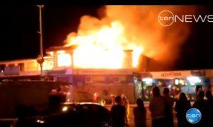 Fire Damages Six Buildings in Australian Town