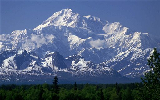 This undated file photo shows Mount McKinley as seen from Talkeetna, Alaska. A record number of climbers summited North America's highest peak this season. The National Park Service said 787 of the 1,151 registered climbers reached the summit of Mount McKinley in Alaska this year. (AP Photo/Al Grillo, File)