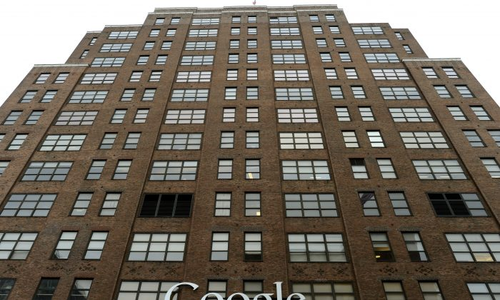 Google's NYC headquarters on 8th Avenue in New York January 11, 2013. New York City has just obtained approval for the domain name—.nyc. (Timothy A. Clary/AFP/Getty Images)