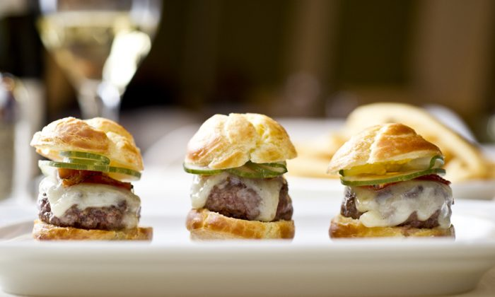 Gougeres sliders from Chef Luc Dimnet. (Evan Sung)