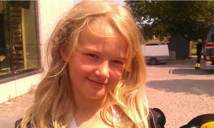 Tove Henriksson, 10, Student, Stockholm, Sweden: I think that it can be fun for a while, but children that play with guns too much can be tempted to buy a real gun when they grow up, and maybe want to have real guns someday, and this is not good. (The Epoch Times)