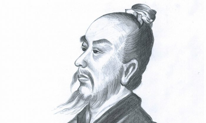 Zhang Heng, the great Chinese inventor. (Illustrator: Yeuan Fang/Epoch Times)
