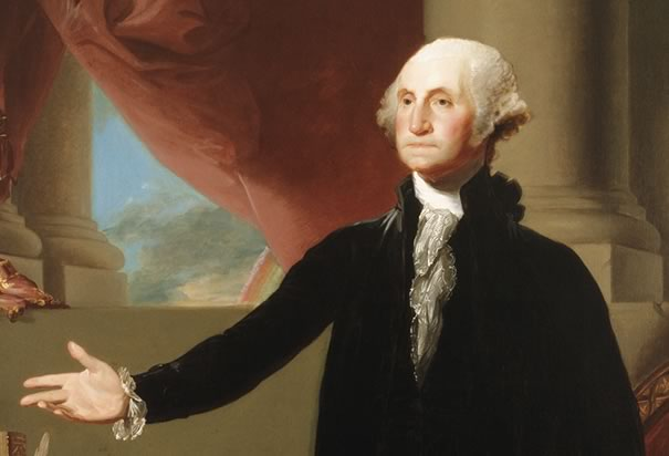"""""""The basis of our political system is the right of the people to make and to alter their Constitution of government. But the Constitution which at any times exists, 'til changed by an explicit and authentic act of the whole People, is sacredly obligatory upon all."""" George Washington (1732–1799). The first President of the United States, the commander-in-chief of the Continental Army during the American Revolutionary War, and one of the Founding Fathers. (Gilbert Stuart/Library of Congress)"""