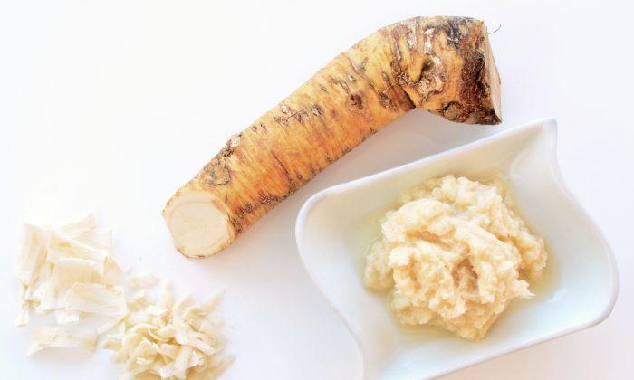 Horseradish is a digestive tonic, diuretic, as well as a strong laxative. (Elzbieta Sekowska/photos.com)
