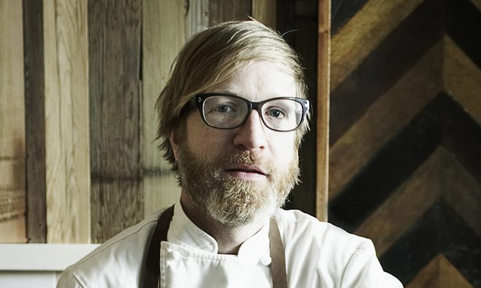 Luksus restaurant's chef Daniel Burns, the former Head of Research and Development at Momofuku Restaurnt group. Luksus opened in Brooklyn on July 16. (Courtesy of Signe Birck)