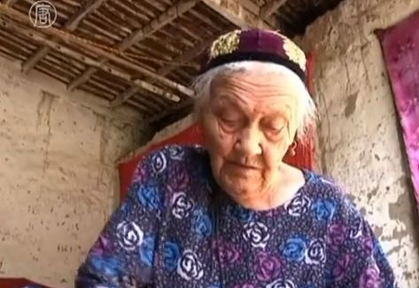 Almihan Sayit, 127, from northwest China's Xinjiang Uygur Autonomous Region has been crowned the country's oldest person by the Gerontological Society of China (GSC). (Screenshot/YouTube)
