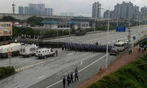 Chinese Authorities use 'Flood Evacuation Drill' to Practice Riot Suppression