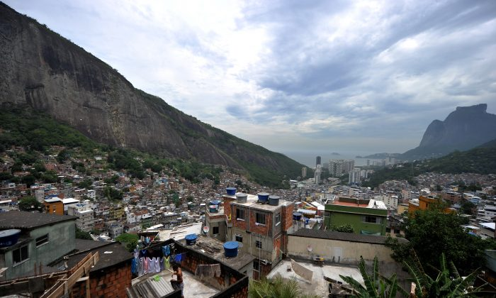View of the Rocinha shantytown on Dec. 14, 2011, in Rio de Janeiro, Brazil. The Rio Times took a look at Rocinha two years after its pacification and after it was retaken from the drug traffickers' gangs in an article published Aug. 29, 2013. (Christophe Simon/AFP/Getty Images)