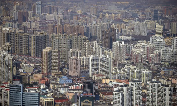 A view of the financial district of Pudong, in Shanghai, China, from the Jin Mao Tower, on Jan. 17, 2011. (Peter Parks/AFP/Getty Images)