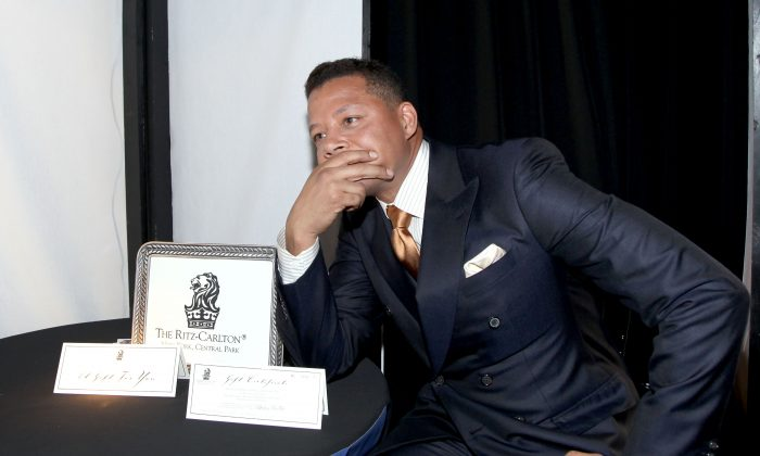 Actor Terrence Howard attends the Official Presenter Gift Lounge at the 2012 Film Independent Spirit Awards at Santa Monica Pier on February 25, 2012 in Santa Monica, California. (Photo by Maury Phillips/Getty Images)